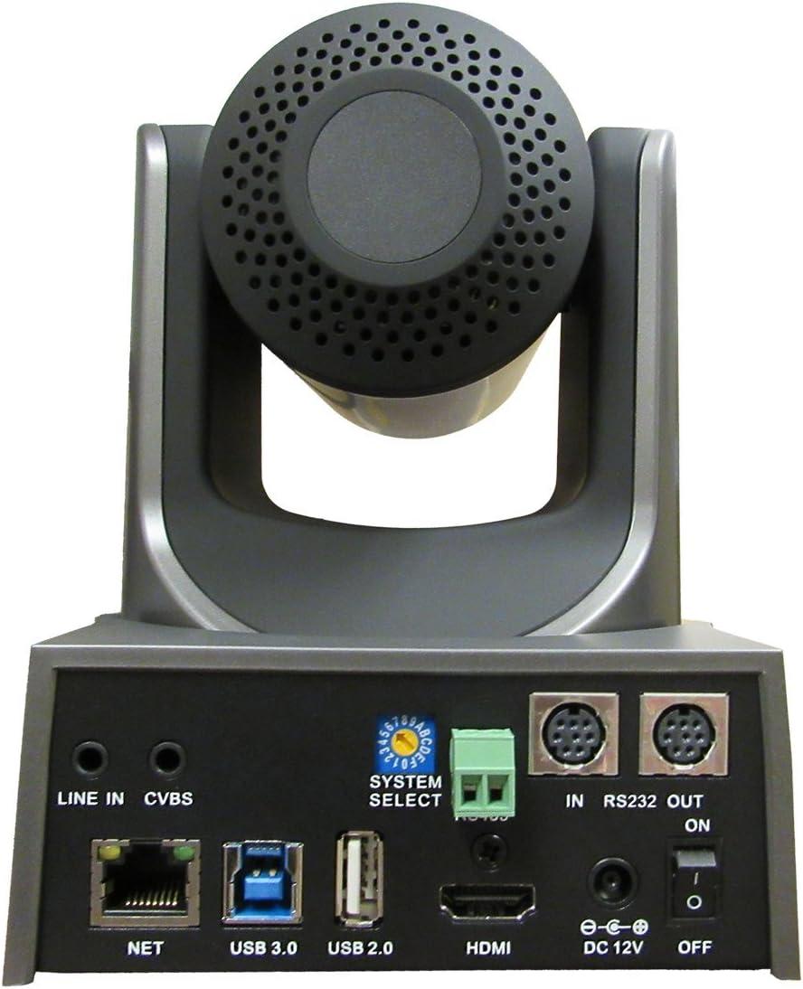 Gray PTZOptics 20x-USB Gen2 Full HD Broadcast and Conference Indoor PTZ Camera