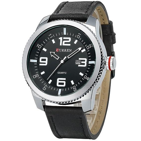 Curren Relojes Hombres Reloj de pulsera de lujo Hombre Reloj Casual Negocios de moda Brown WatchRelogio Masculino: Amazon.es: Relojes