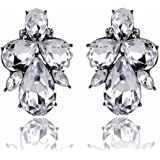Glitz Diva Collection Shining Crystal Stud Earrings For Women/Girls