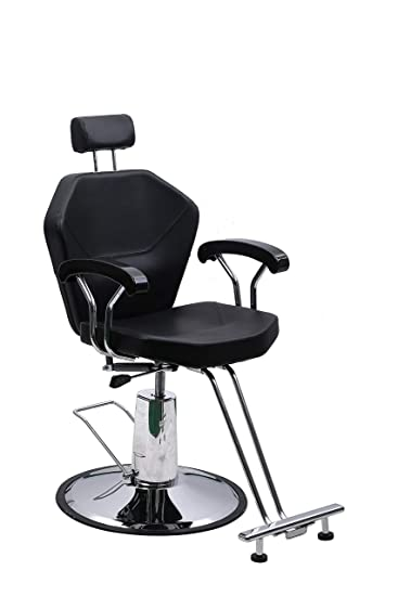 Enjoyable Beauty Style Styling Chair Reclining Hydraulic Chair With Movable Headrest Black Lamtechconsult Wood Chair Design Ideas Lamtechconsultcom