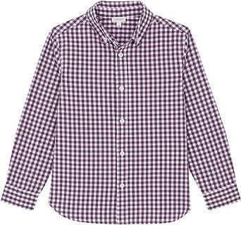 Gocco Camisa Popelín Vichy Berejena Shirt para Niños: Amazon ...