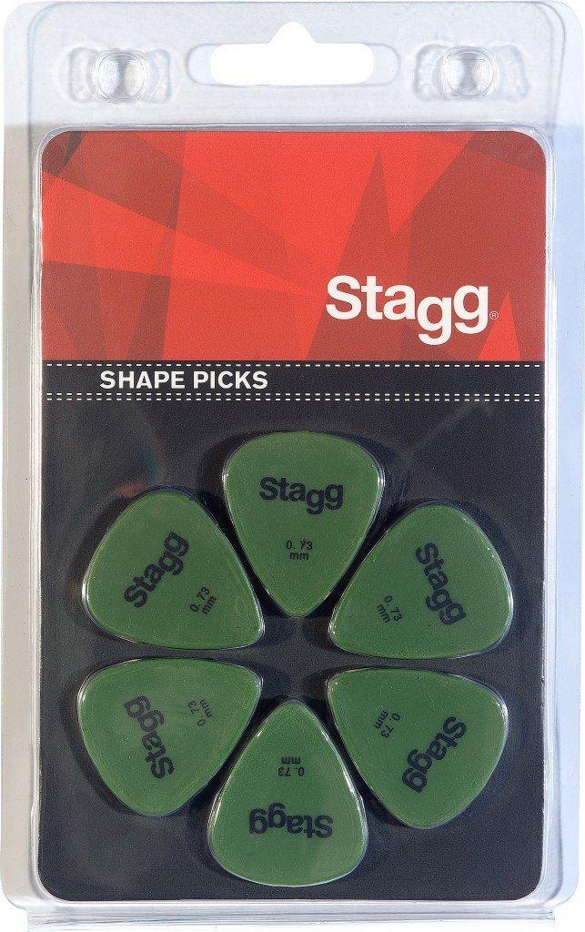 Stagg SPSTD X6-0.73 Lot de 6 m/édiators standard 0.73mm