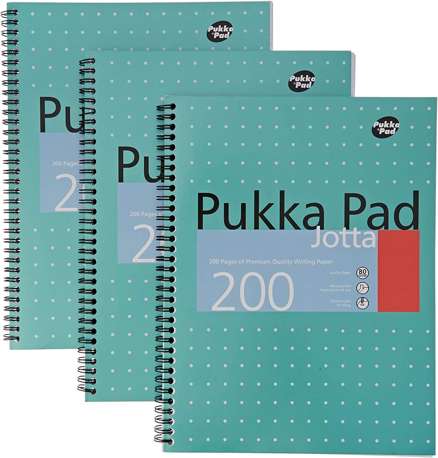 PUKKA JOTTA METALLIC A5 WRIT PAD 80GSM