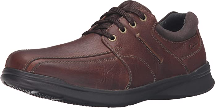 Clarks Men/'s Cotrell Edge Leather Ortholite Lace Up Casual Oxford