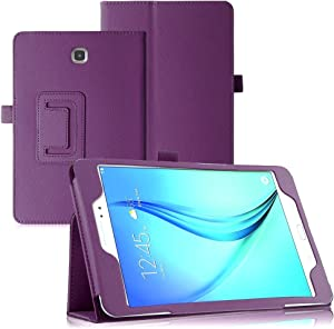 Samsung Galaxy Tab 3 7.0 T210 Case,Samsung Tab3 7 Case,Beebiz PU Leather Protective Case for Samsung Galaxy T210r Case with Stand (Purple)