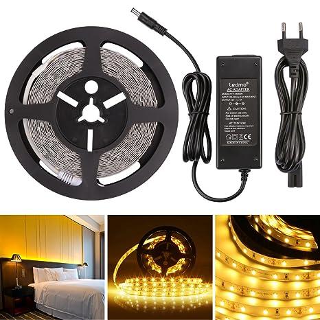 LEDMO Striscia LED 12V, strisce led bianco caldo 2700K,led strip ...
