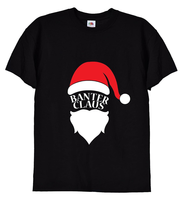 bf4ec54d Banter Clause, Funny Mens Black T-Shirt, 058: Amazon.co.uk: Clothing