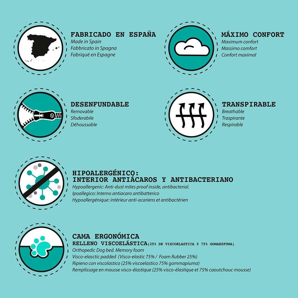 ThePetLover - Colchoneta Calaveras para Perros: Amazon.es: Productos para mascotas