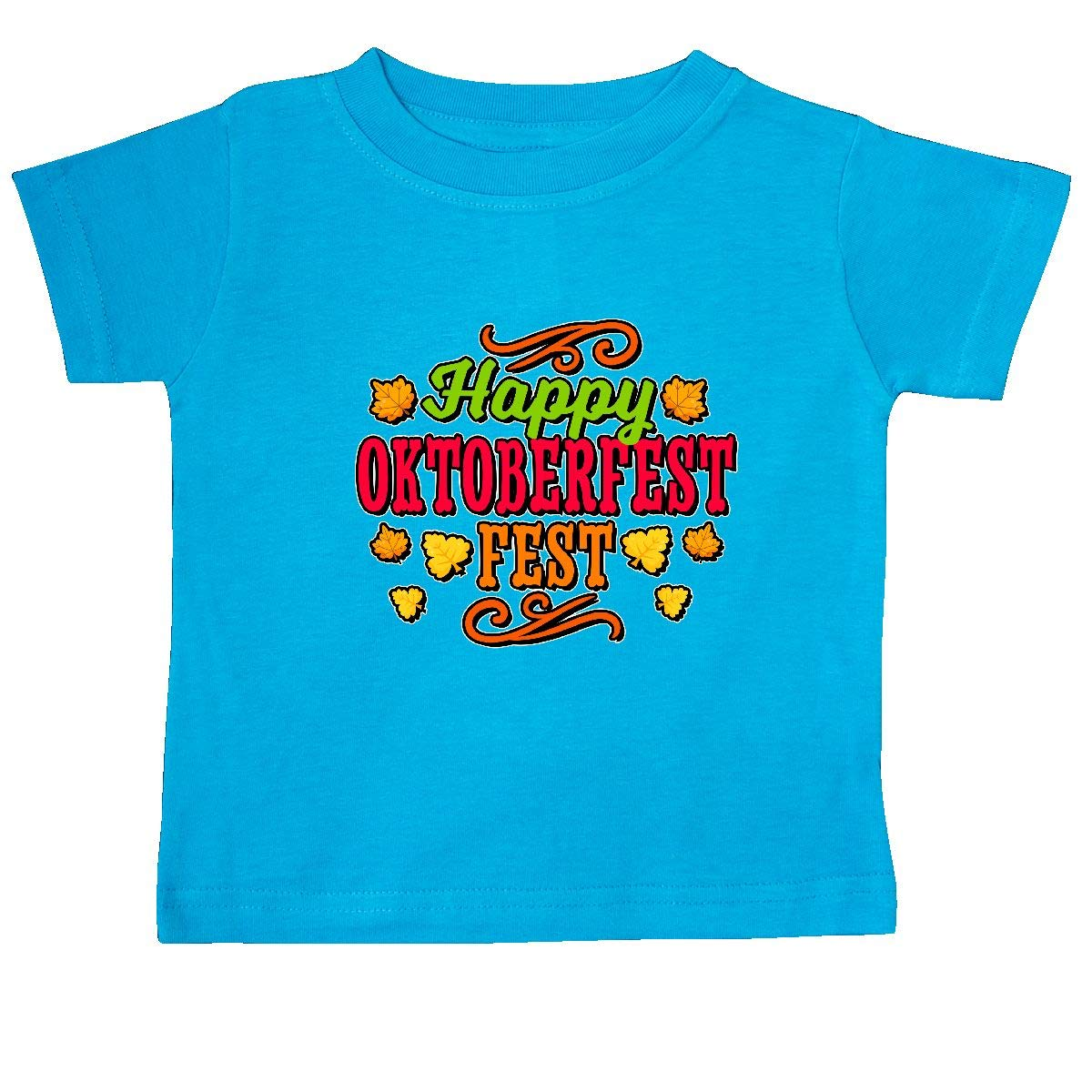 inktastic Happy Oktober Fest with Leaves Baby T-Shirt