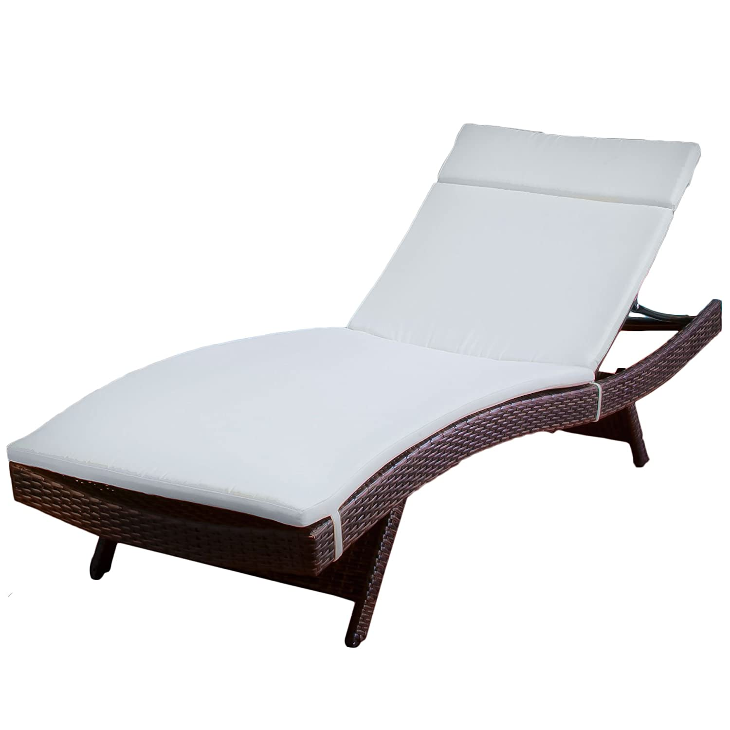 Amazon best selling saybrook wicker adjustable chaise for Daybed bench chaise