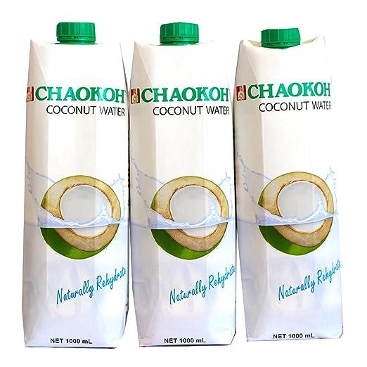 100% Reines Kokosnusswasser von Chaokoh ohne Zucker