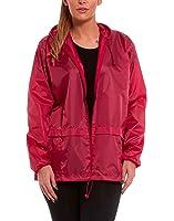 Womens Ladies Raincoat Lightweight Easy Pack Kagool Cagoule Kagoul Kag Showerproof