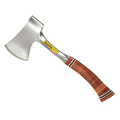"""Estwing Sportsman's Axe - 12"""" Camping Hatchet with Forged Steel Construction & Genuine Leather Grip - E14A : Hatchet : Garden & Outdoor"""