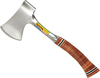 "product image for Estwing Sportsman's Axe - 12"" Camping Hatchet with Forged Steel Construction & Genuine Leather Grip - E14A"