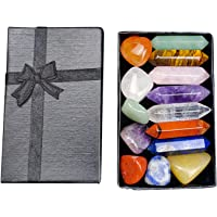 WHIO 7 Chakra Stone Set Mother's Day Gift Meditation Stone Yoga Amulet med presentförpackning