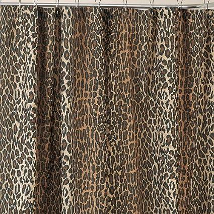 karin maki leopard print shower curtain