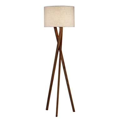 Adesso 3227-15 Brooklyn Floor Lamp - Contemporary Tripod Lamp, Smart Outlet Compatible, 63 in. Decor Light. Home Decor Lighting