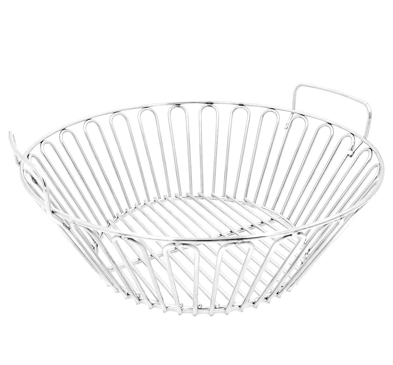 RunTo 13.5 inch Charcoal Ash Basket Fits for Large Big Green Egg Grill, Kamado Joe Classic, Pit Boss, Louisiana Grills,Primo Kamado Grill and Large BGE by RunTo