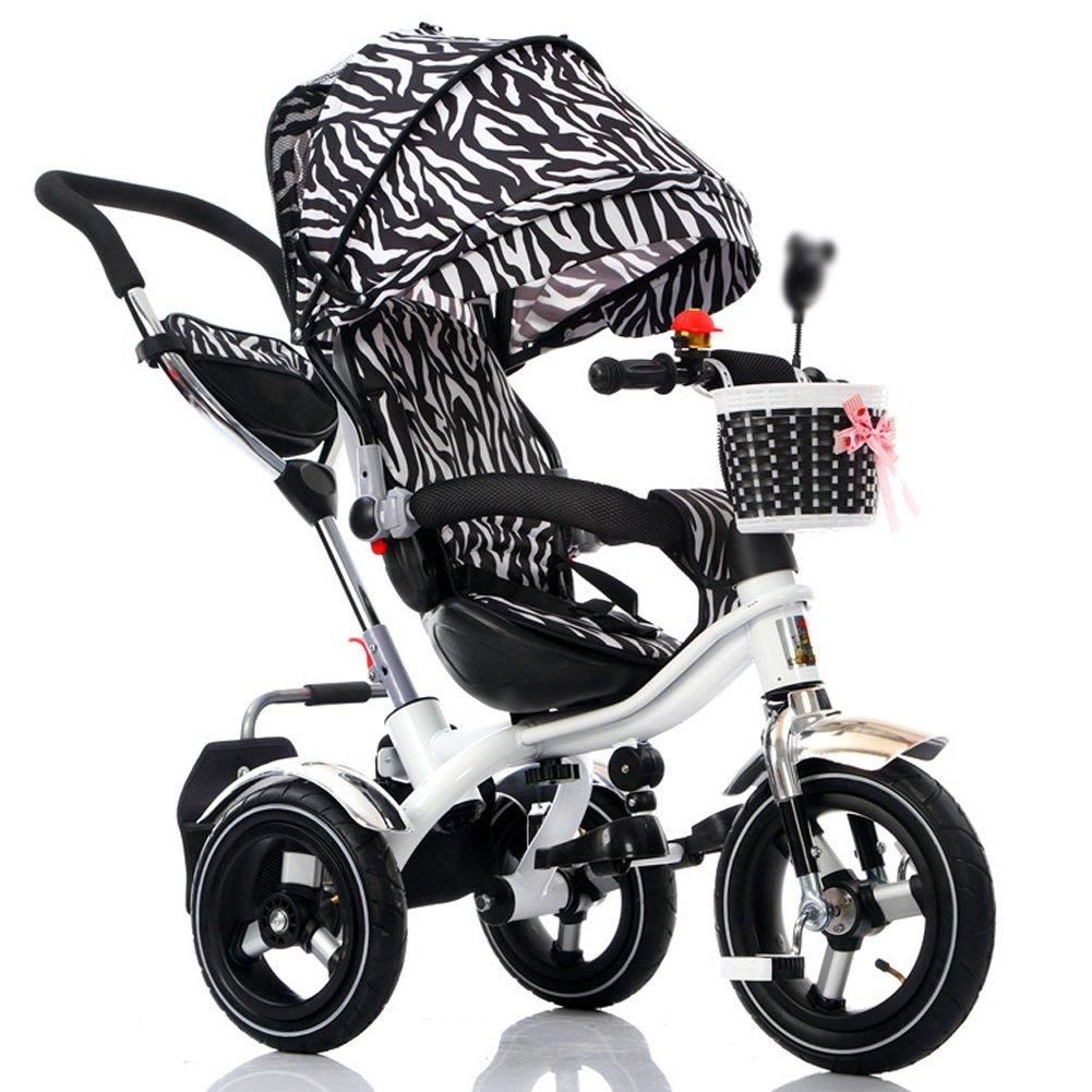 CHS@ 子供の三輪車の子供の自転車1-3-6歳の子供の折りたたみ式3泡ホイールのベビーカーの回転式シート 子ども用自転車 (色 : Color 1)  Color 1 B07PYFJ55G