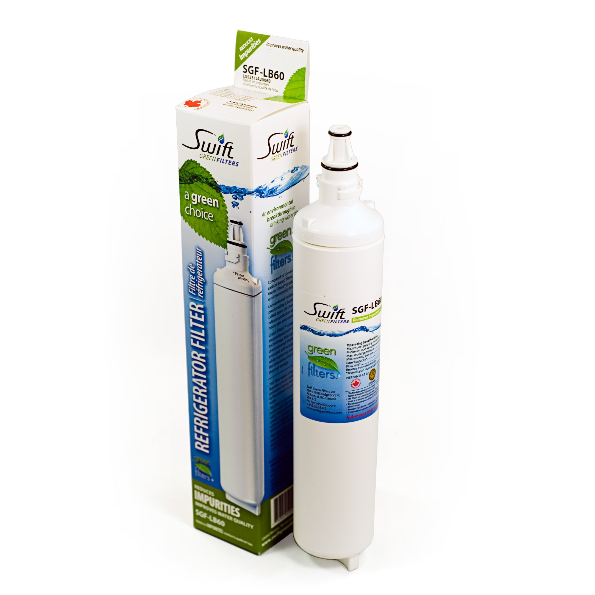 Swift Green Filters SGF-LB60 (1 Pack) Refrigerator Water Filter