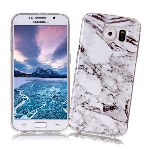 15 opinioni per Cover Samsung Galaxy S6 con Disegno di Marmo XiaoXiMi Custodia in TPU Silicone