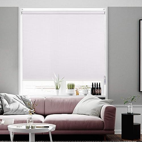 Didoya 100 Blackout Waterproof Fabric Window Roller Shades Blind