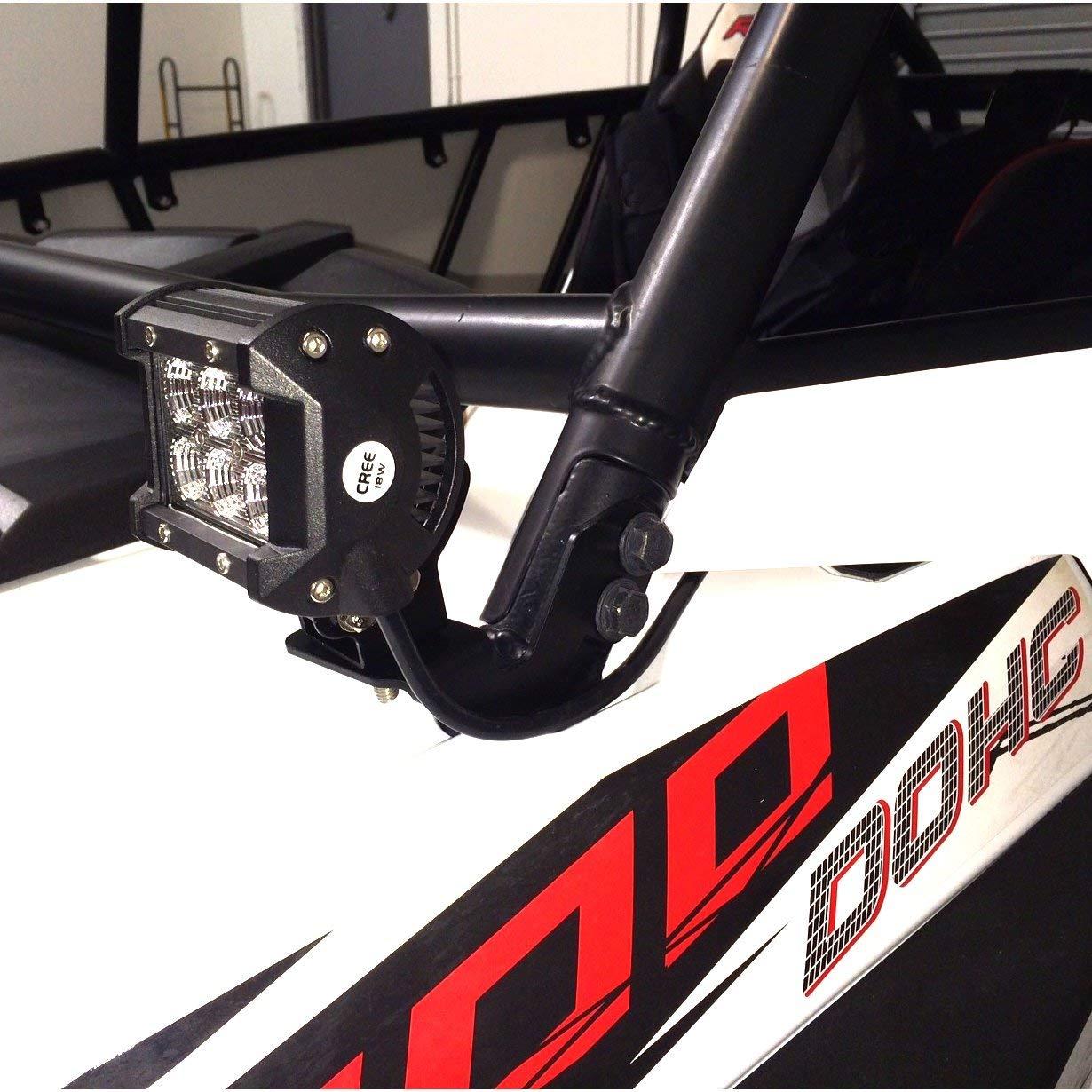 Driverwish LED Light Bar Mounting Brackets Kit for Polaris RZR XP 900 1000 Black