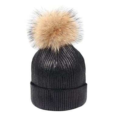 Komise Stylish 15cm Top Ball Hat Winter Keep Warm Beanie Outdoor Sports  Knitted Cap (One Size bd8ed0e9c9d