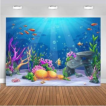 Amazon.com: LELEZ 7X5ft submarino fondo del mundo colorido ...