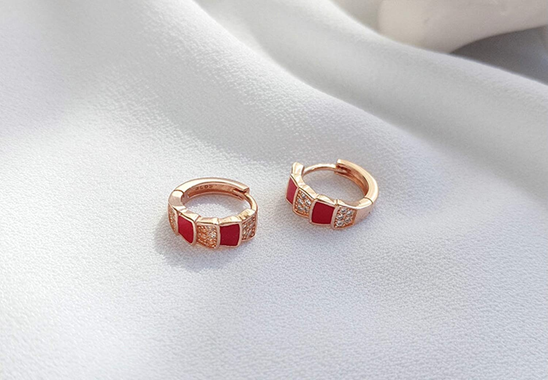Epinki Jewelry 925 Sterling Silver Women Stud Earrings Round Cubic Zirconia Earrings