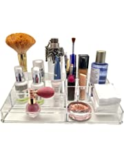 Best Acrylic Makeup Organizer Clear Cosmetic Storage, Great for Organizing your Lipstick Nail Polish Makeup Brushes keep your Vanity Dresser Bathroom Organized by Ozmeow