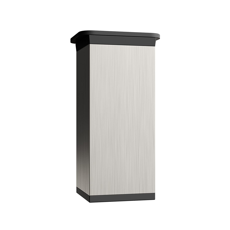 altura regulable | Tornillos incluidos +20mm 4 piezas Sossai/® MFV1-IX Patas para muebles Perfil cuadrado: 40 x 40 mm Altura: 120mm Dise/ño: Inox