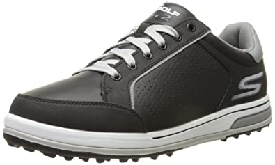 Twinkle Toes by Skechers Skechers Men's Go Golf Drive 2 Golf  Shoe,Black/White