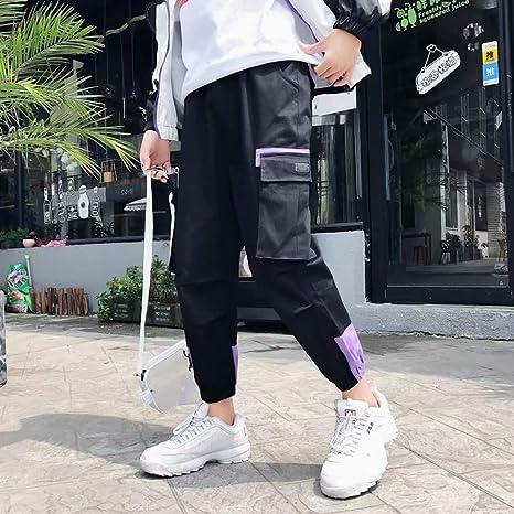 HNRLSL Pantalones Streetwear Hip Hop Pantalones de chándal Bloque ...