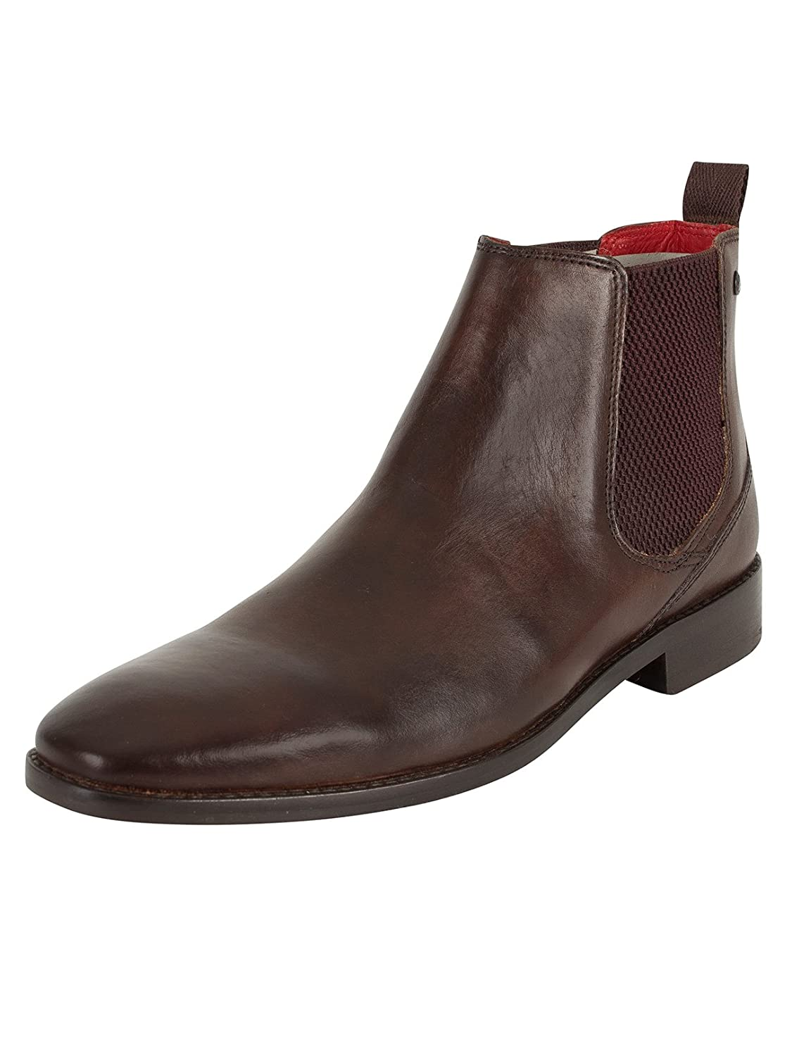 Base London Mens Brown Leather 'Cheshire' Chelsea Boots
