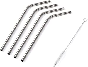 NutriBullet 4-pack Metal Straws.59 ounces, Silver
