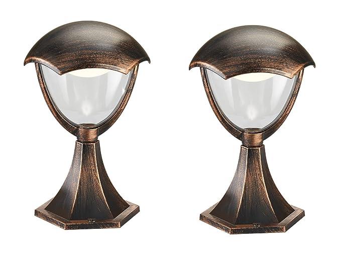 Set lampade led da terra piantana gracht antico ruggine 31 cm