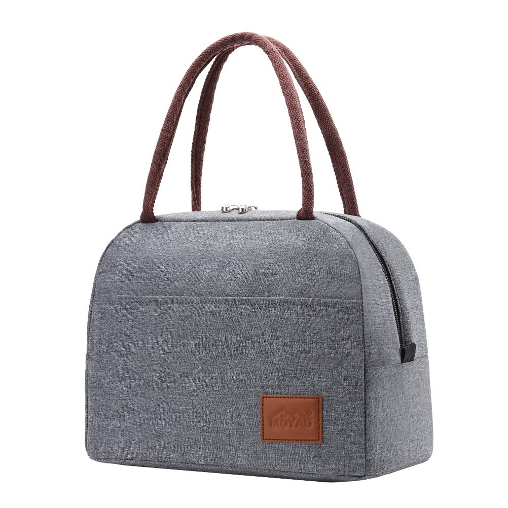Moyad Insulated Lunch Bag, Large Lunch Box Cooler Tote Bags, Thermal Meal Prep Lunch Containers for Women, Men 12L Gray