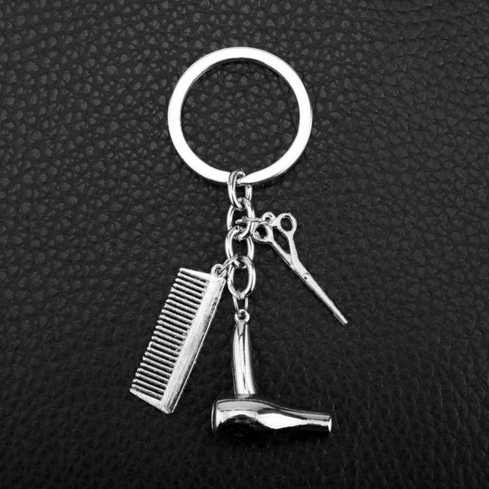 Amazon.com: Secador de pelo tijeras peine Colgante Llavero ...