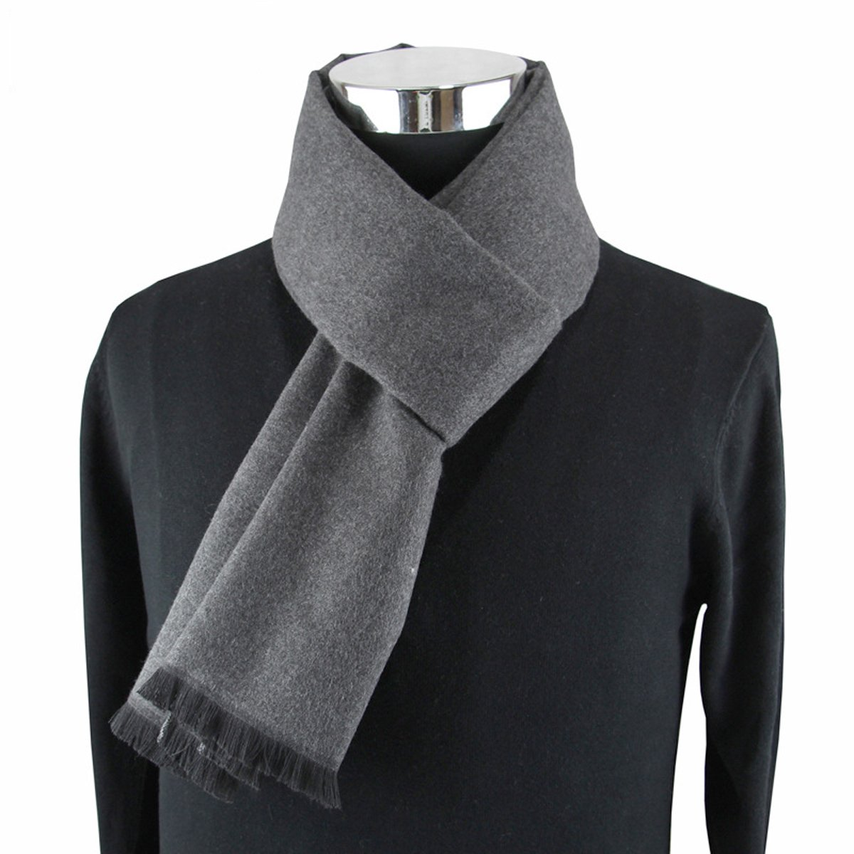 Winday Men's Winter Fall Plaid Stripes Long Cashmere Pashmina Feel Warm Scarves