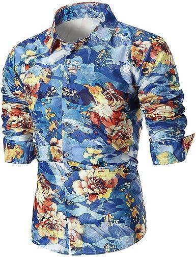 Rawdah_Camisetas De Hombre Manga Larga Camisas Hombre Manga Larga XXXL Camisas De Hombre Manga Larga Camisas De Hombre Camisas De Hombre Talla Grande Camisas Hombre Blancas Camisetas: Amazon.es: Ropa y accesorios