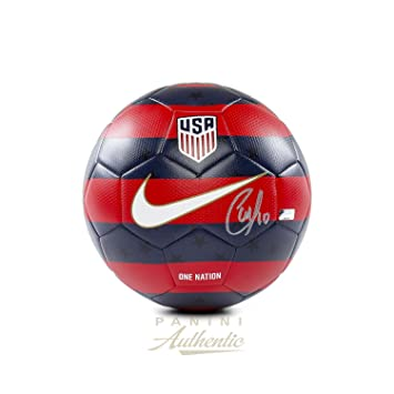 09f3ad1d2ee Christian Pulisic Autographed 2018 Nike Red   Blue USA Prestige Soccer Ball  ~Open Edition Item~ - Panini Authentic - Panini Certified at Amazon s  Sports ...