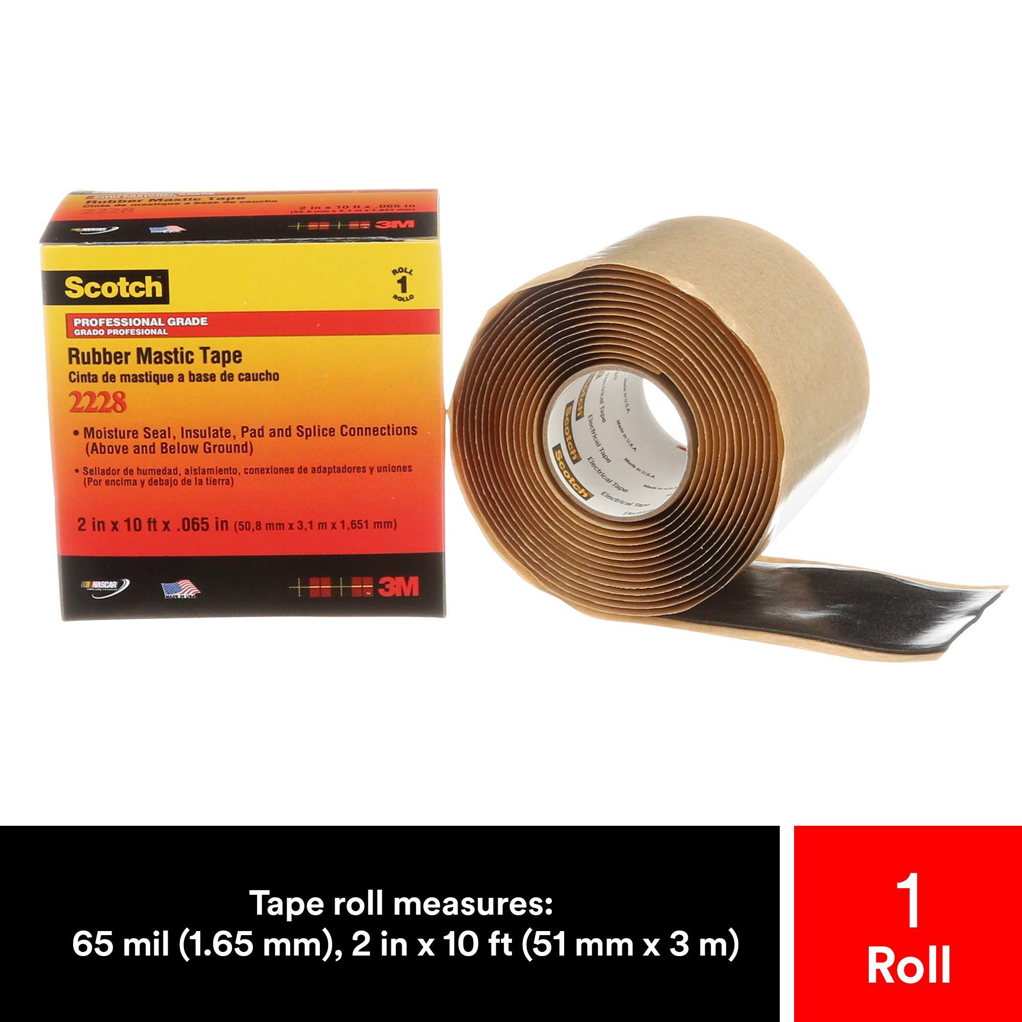 3M 2228 Scotch Moisture Sealing Electrical Tape 1 in x 10 ft x 0.65 in
