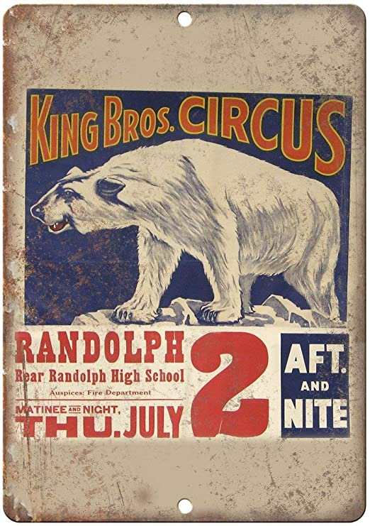 King Bros Circus Póster De Pared Metal Retro Placa Cartel ...