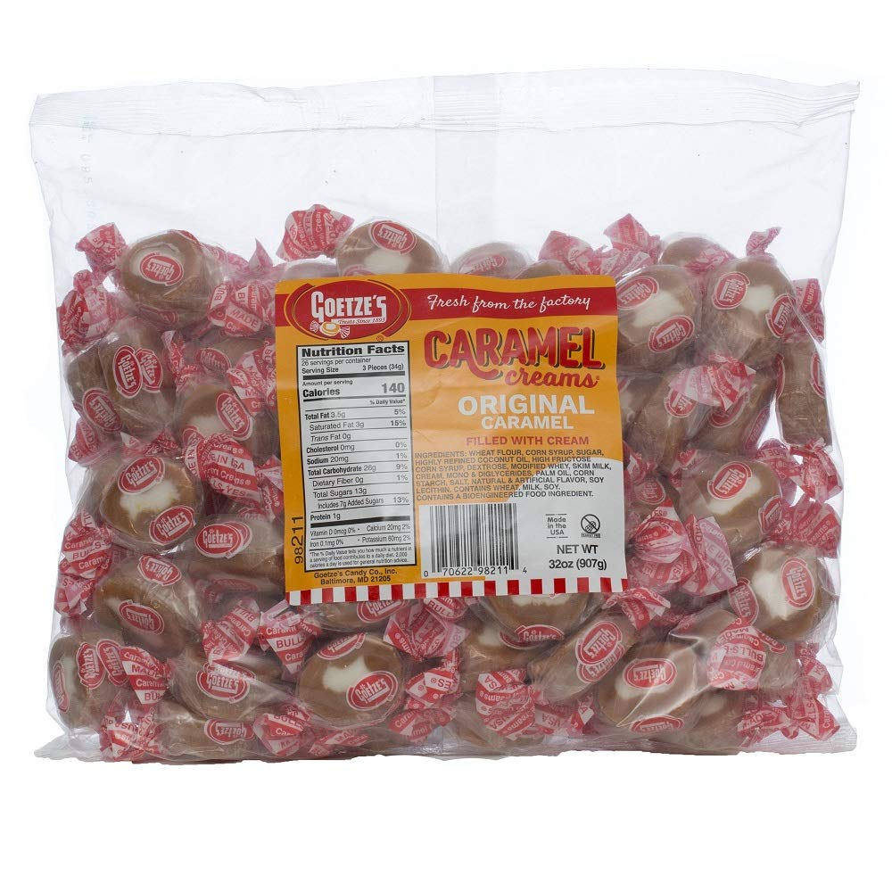 Goetze's Candy Vanilla Caramel Creams - 2 Pound Bag (32 Ounces) - Fresh from the Factory