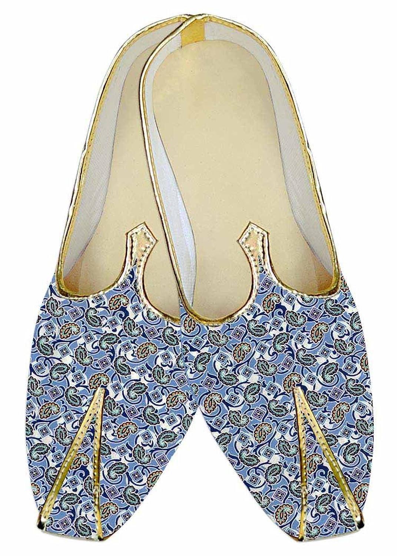 INMONARCH Cielo Azul Hombres Boda Zapatos Diseños Paisley MJ014452 38.5 EU