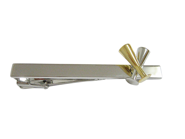 Champagne Sparkling Wine Glass Flute Square Tie Clip