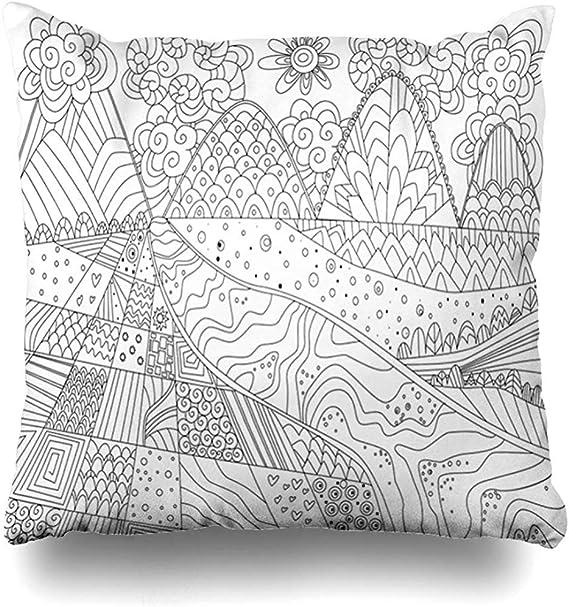 Funda de almohada para colorear Libro para colorear