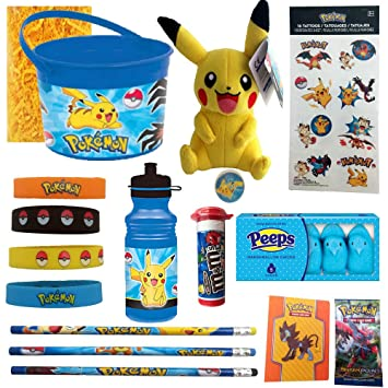 Amazon pokemon pikachu easter candy and toy gift basket pokemon pikachu easter candy and toy gift basket bundle 14 items pre negle Image collections