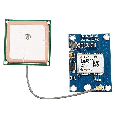 UIOTEC GY-GPS6MV2 NEO-6M GPS Module + GPS Ceramic Antenna for ...